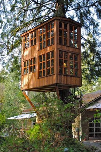 Amazing treehouse for Maison profab prix