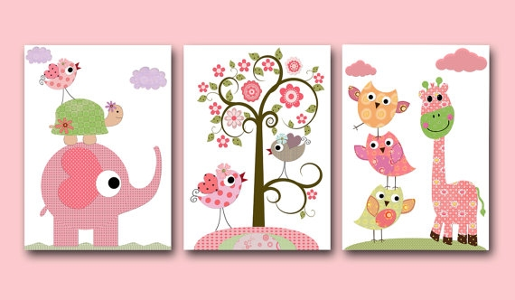 Art for Children Kids Wall Art Baby Girl Room Decor - FaveThing.