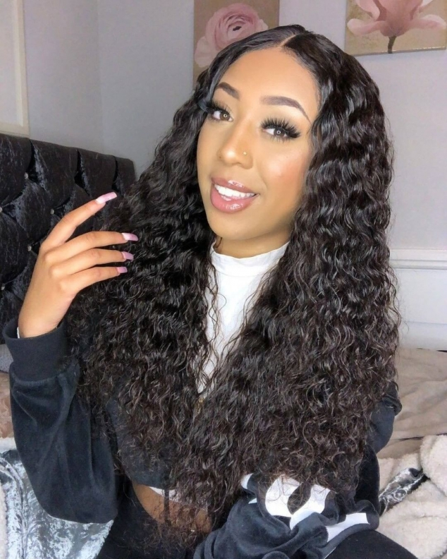 Ashimary Jerry curly affordable lace front wigs human hair pre plucked with baby hair