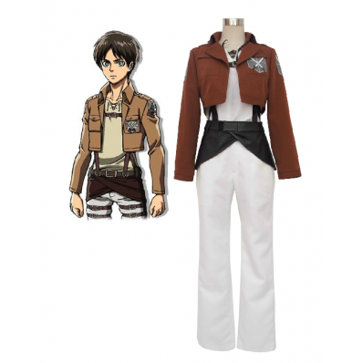 Attack on Titan Eren Jaeger Trainee Class Uniform Cosplay Costume