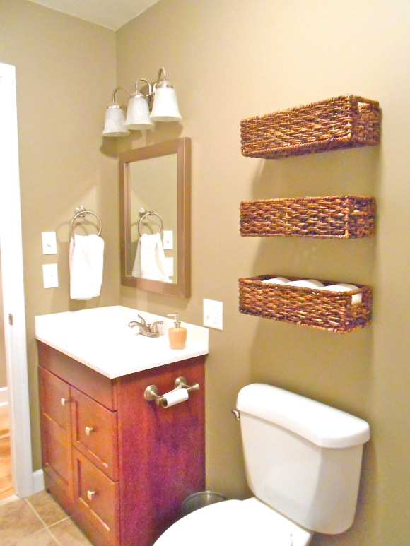 basket storage for bathroom