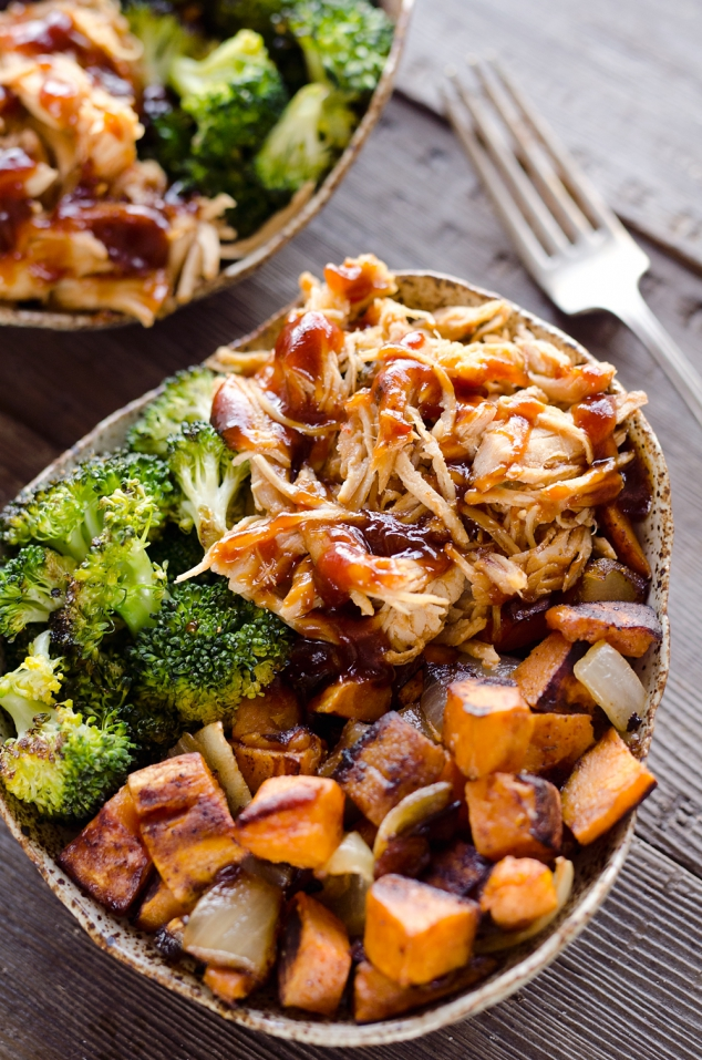 BBQ Chicken and Roasted Sweet Potato Bowls - Image 2
