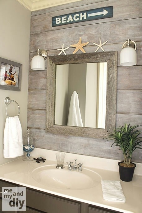Beach bathroom for Beach decor bathroom ideas