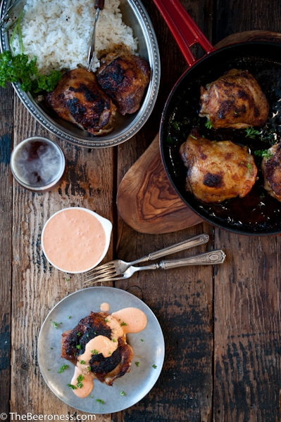 Beer Brined Paprika Chicken with Roasted Red Pepper Cream Sauce - Image 2