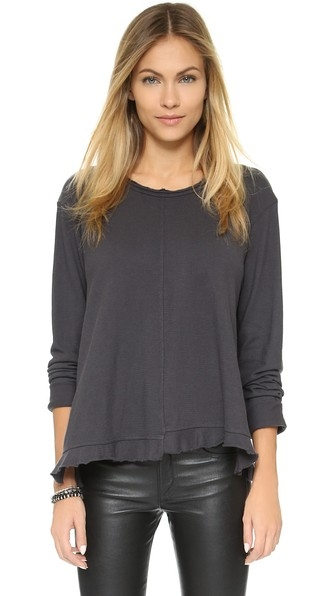 Big Ruffle Long Sleeve Tee by Wilt