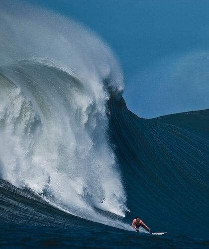 Big wave surfing.  A thing of beauty.