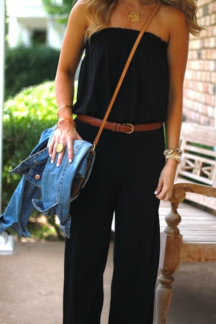 Black Casual Jumpsuit - FaveThing.com