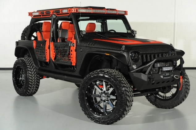 Black & Red Jeep Wrangler Unlimited Starwood Custom