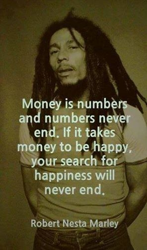 Bob Marley quote on money
