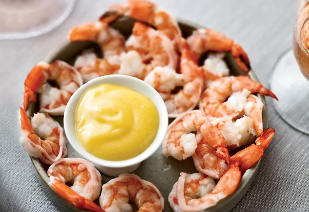 Boiled Shrimp with Spicy Mayonnaise