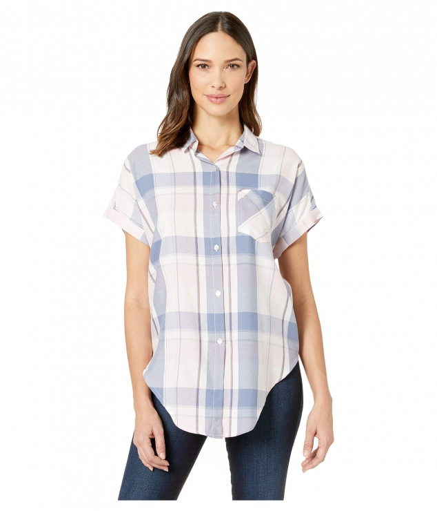 Boxy Dolman Tie Front Shirt High-Low Hem