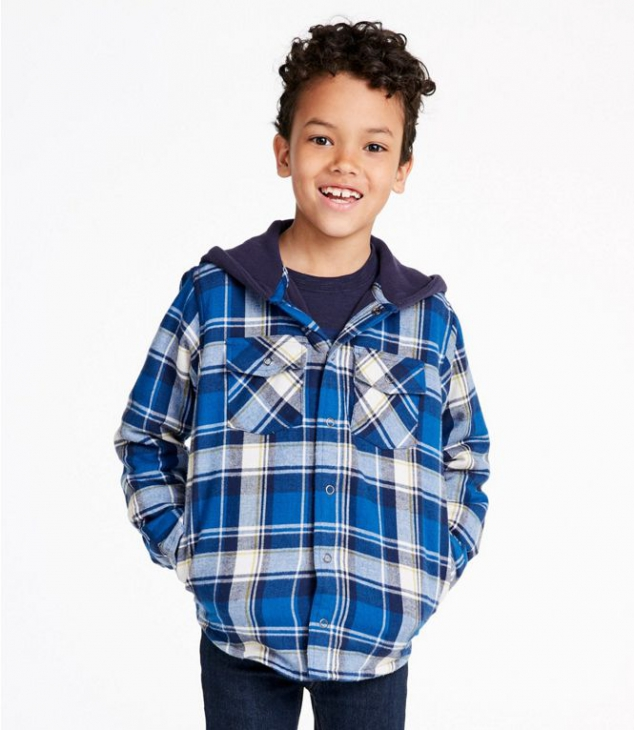Boys' Fleece-Lined Flannel Shirt