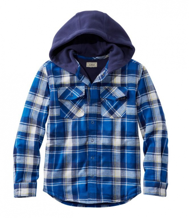 Boys' Fleece-Lined Flannel Shirt - Image 2