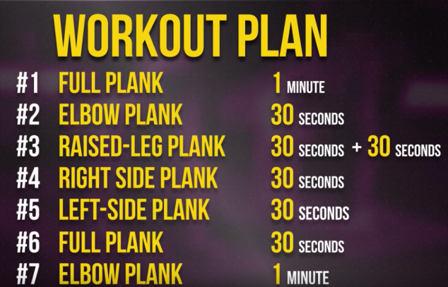 Bright Side Plank Workout - Image 2