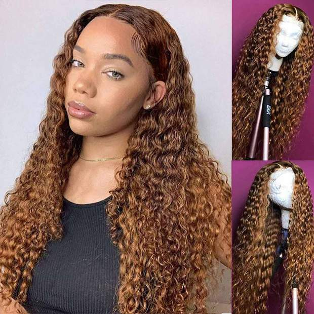 Brown Wig Lace Front Wigs Straight/Deep Wave Brazilian Human Hair-AshimaryHair.com