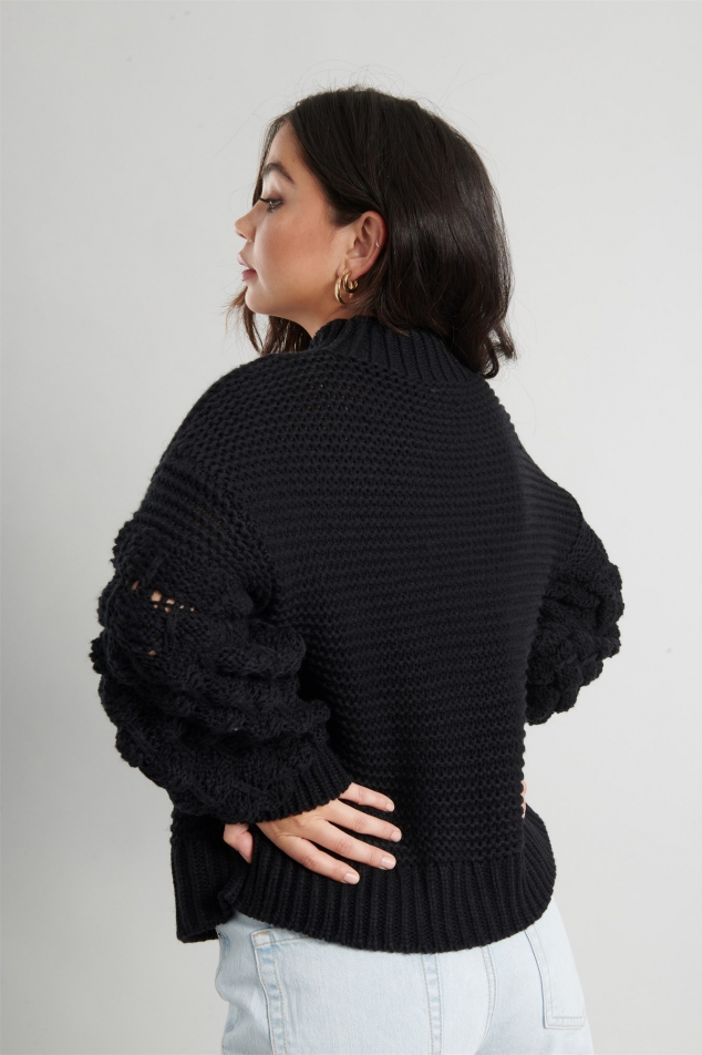Bubble Sleeve Sweater - Image 2
