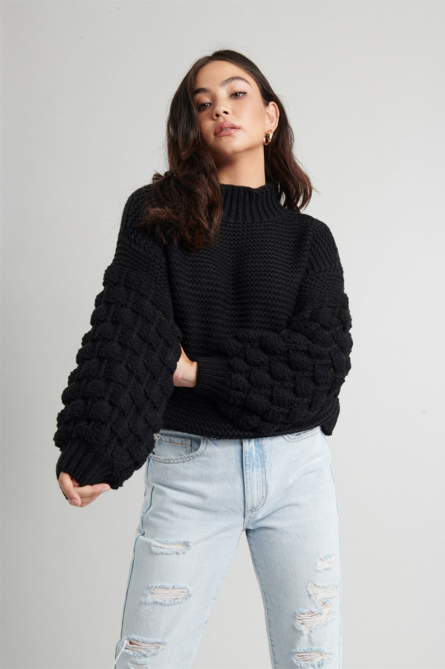 Bubble Sleeve Sweater - Image 3