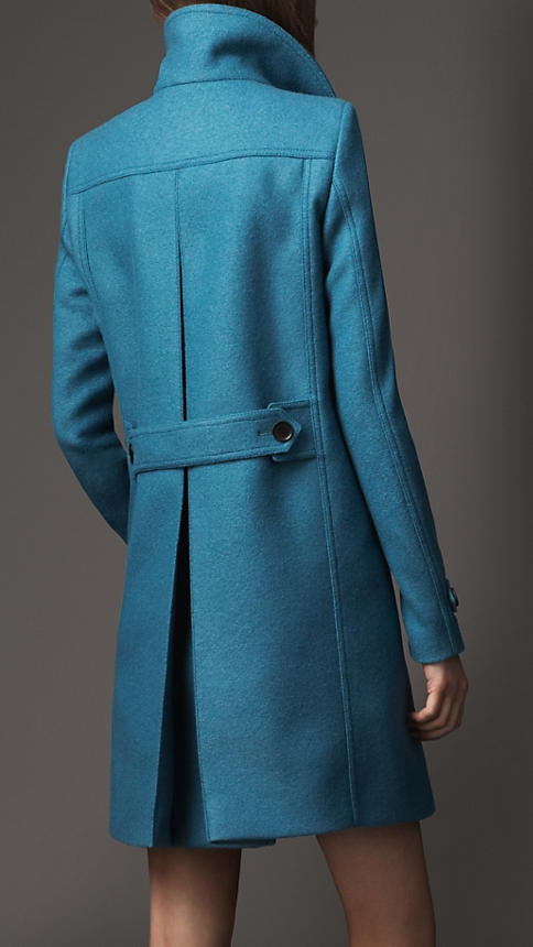 Burberry Wool A Line Coat - Image 2