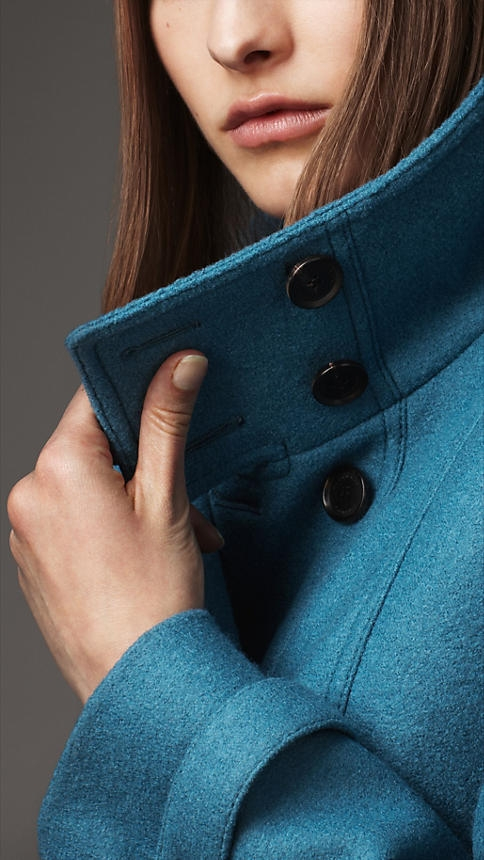 Burberry Wool A Line Coat - Image 3