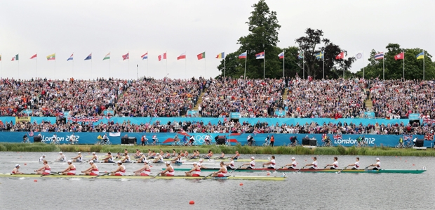 Canadian men's eight rowing crew wins silver medal at the 2012 Olympic regatta - Image 2