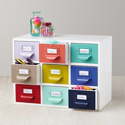 card catalog inspired storage