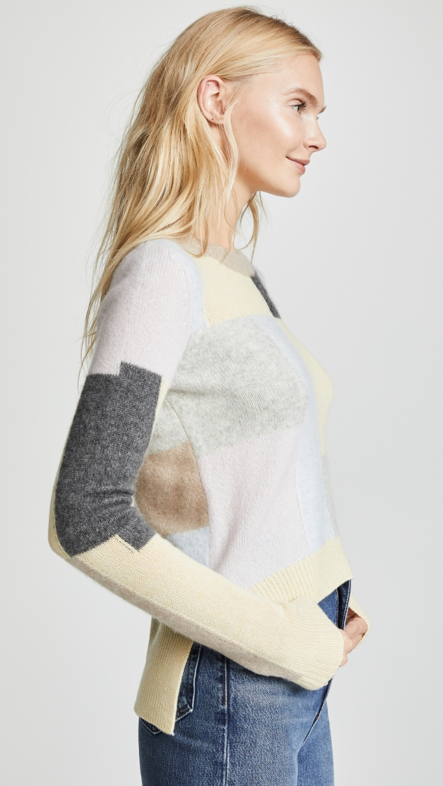 Cashmere Patchwork Sweater designed by Adam Lippes - Image 2