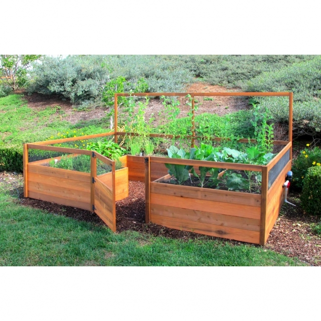 Cedar Complete Raised Garden Bed