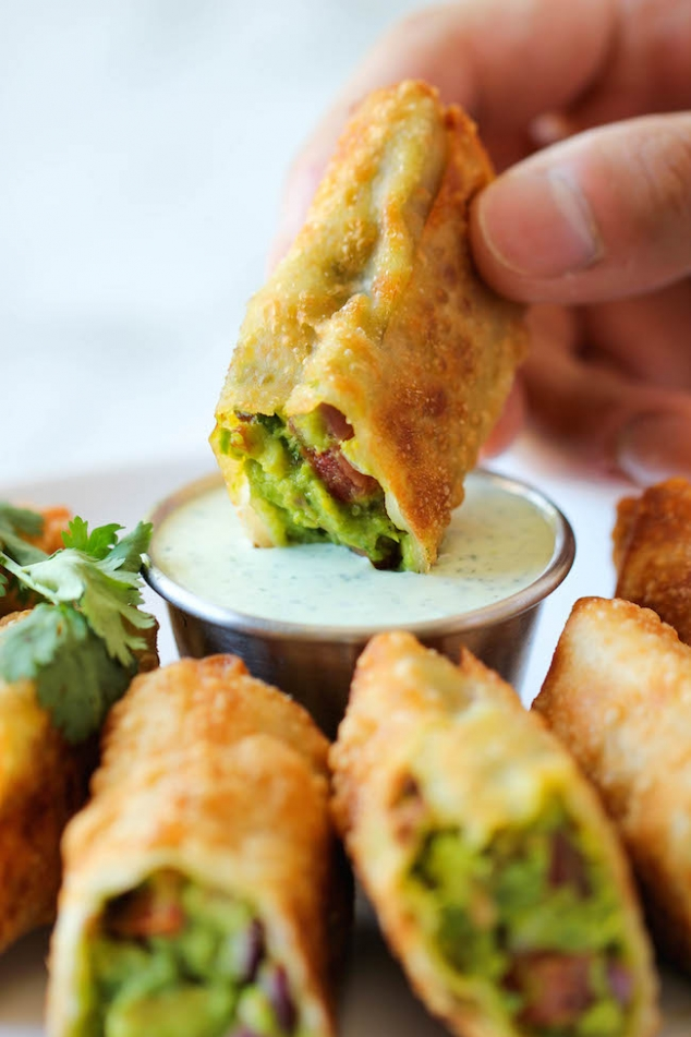 Cheesecake Factory styled Avocado Egg Rolls