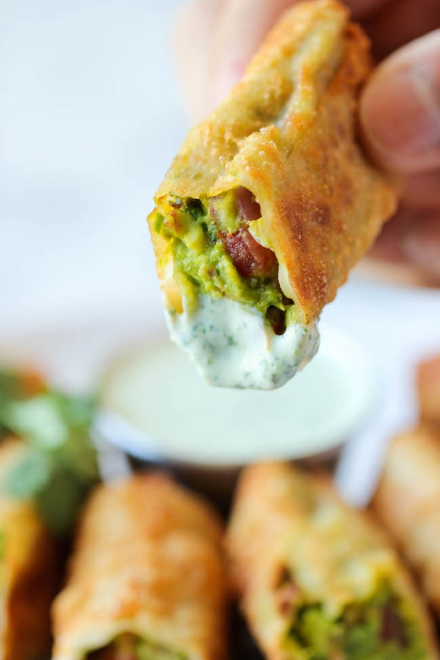Cheesecake Factory styled Avocado Egg Rolls - Image 2