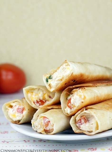 Chicken & cream cheese taquitos - FaveThing.com