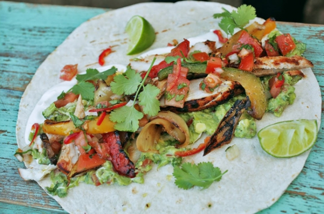 Chicken fajitas with homemade guacamole & salsa - Jamie Oliver