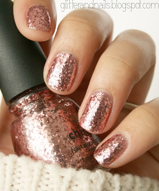 Rose Gold Nail Glitter: China Glaze Nail Polish