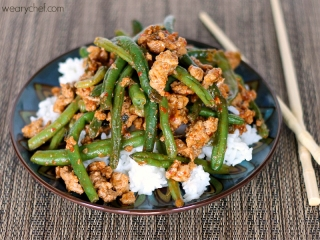 Chinese Green Beans with Ground Turkey over Rice - Image 2