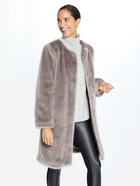 Christel Faux Fur Coat