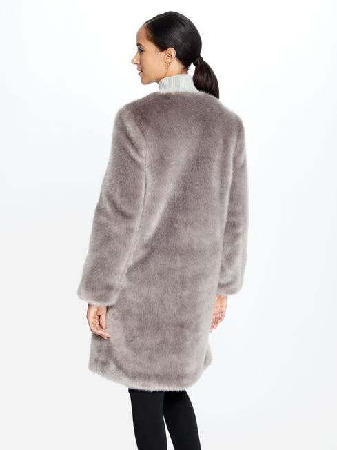 Christel Faux Fur Coat - Image 2