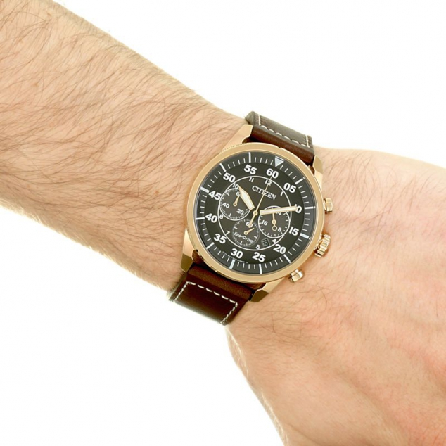 Citizen Eco-drive Sport Strap Chronograph Stainless Steel Watch - Image 2