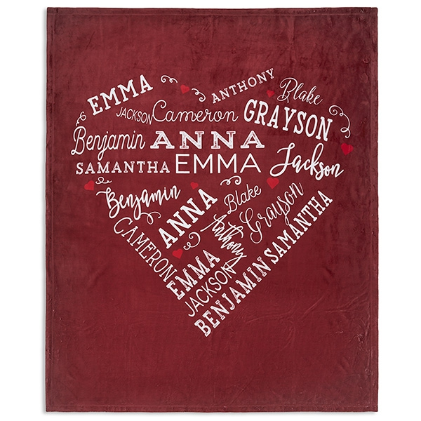 Close To Her Heart Personalized Fleece Blanket - Image 2
