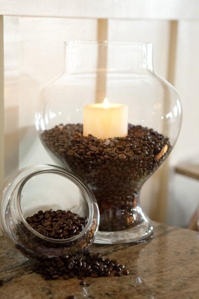 Свечу с кофе