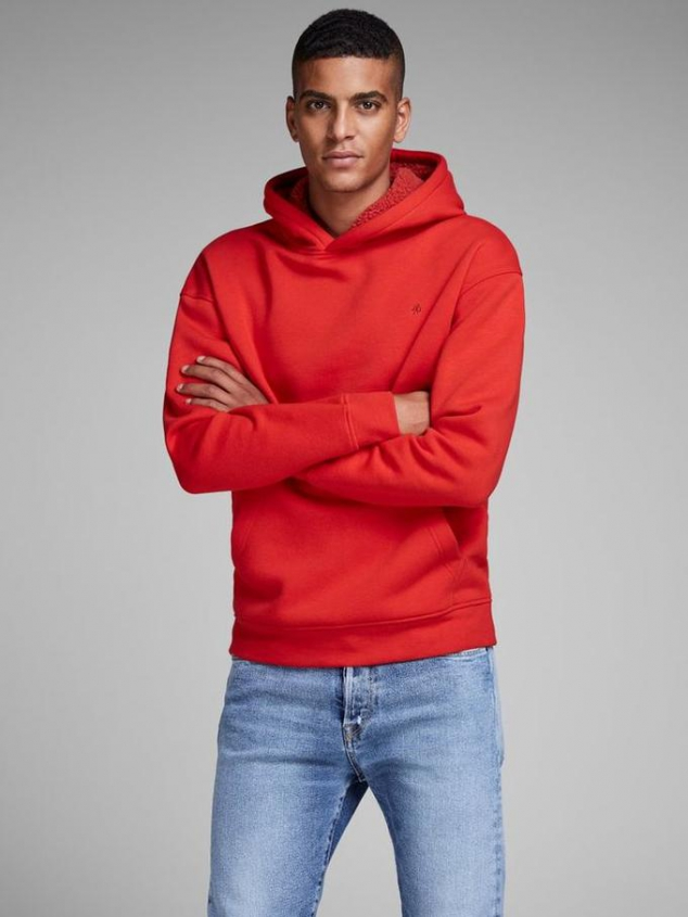 Colorful Hoodie with Teddy Lining