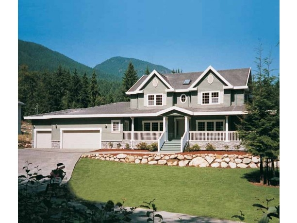 House Plan With Wraparound Porch Country House Plan Country House