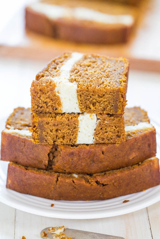 Cream Cheese-Filled Pumpkin Bread - Image 2