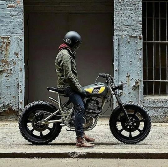 Custom Yamaha 500 scrambler - FaveThing.com