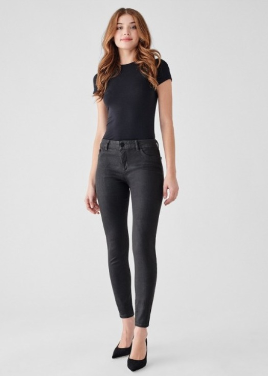 DL1961 Florence Ankle Mid-Rise Skinny Jeans