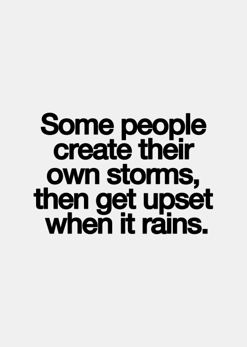 Don't create storms