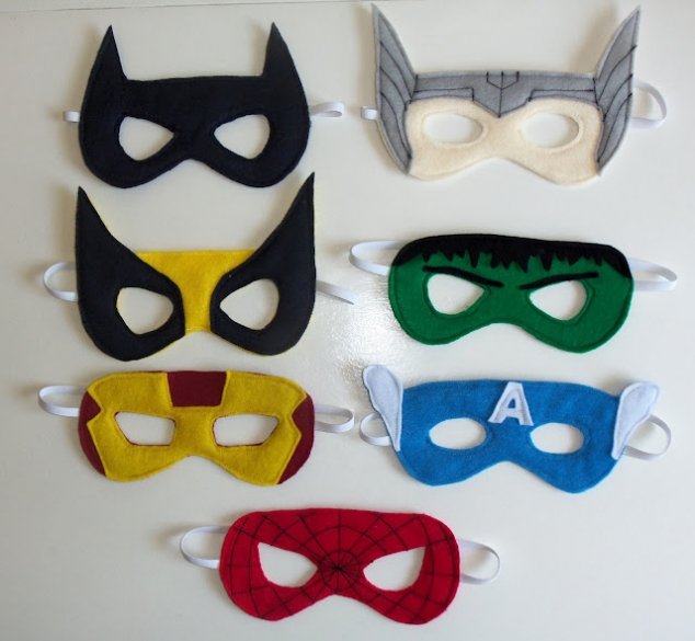 easy to make superhero masks