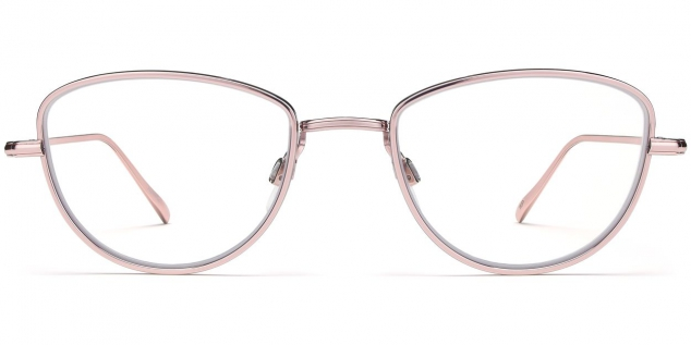 Eleanor Eyeglasses in Lilac Silver - Image 2