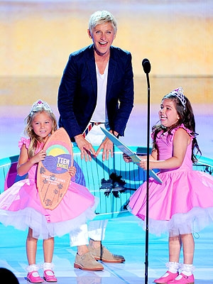 Ellen with Rosie and Sophia Grace