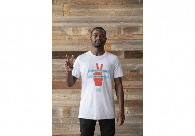 End Gun Violence Together Black Short Sleeve Crew Tee - Image 2
