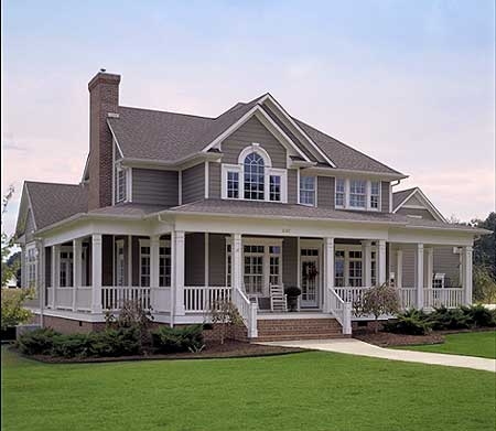 Farm house for Single level home with wrap around porch