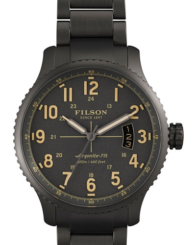 Filson 43mm Mackinaw Field Gunmetal Coated Watch